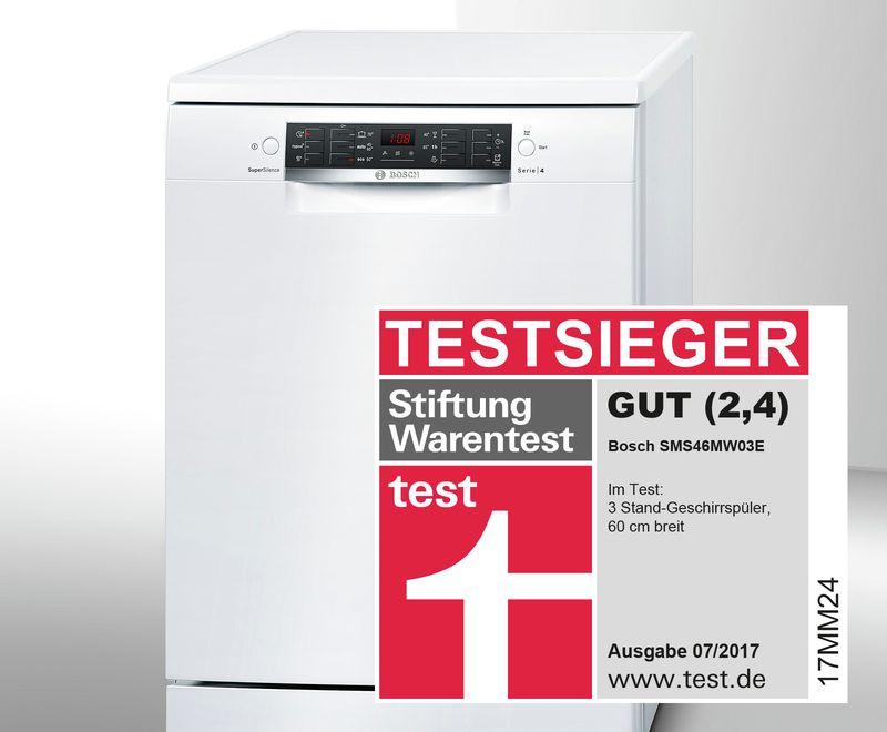 Wunderbar Testsieg Für Den Serie | 4 SuperSilence Geschirrspüler 60 Cm Von Bosch.